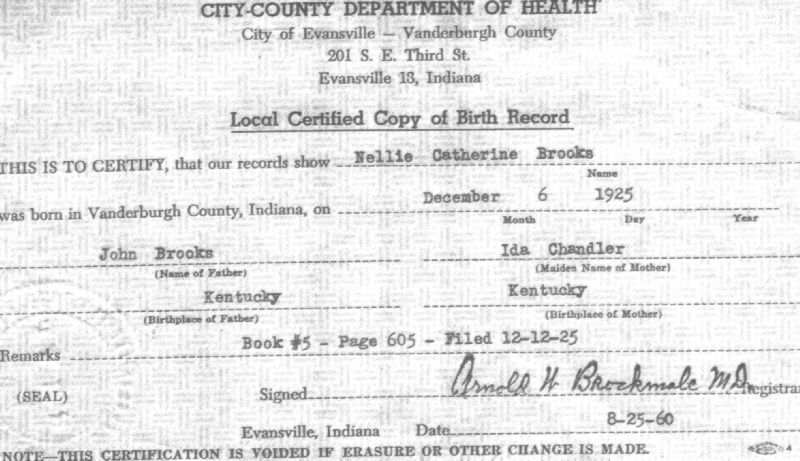 births: 1925 dec 6 local certified copy of birth record from ...